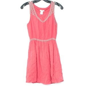 Esley Womens Dress Sleeveless Pink Small